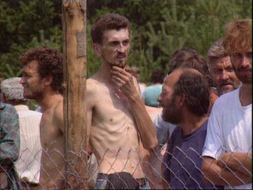Bosnian Genocide (1992), Penny Marshall, ITN, 6 August 1992 -Trnopolje concentration camp