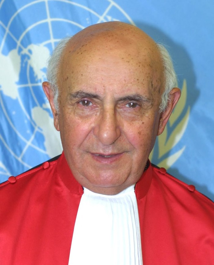 Judge Theodor Meron (Srebrenica Genocide Judgement) Holocaust Survivor